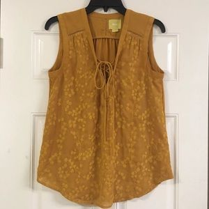 Maeve yellow gold blouse size 4